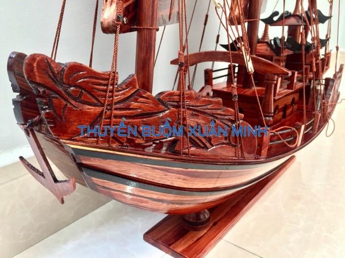 Mô Hình Thuyền Buồm Gỗ Hạ Long Rồng | Gỗ Tràm | Thân 60cm1