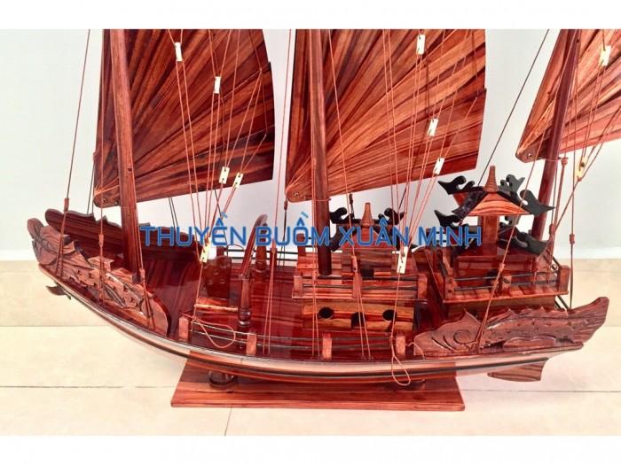 Mô Hình Thuyền Buồm Gỗ Hạ Long Rồng | Gỗ Tràm | Thân 60cm2