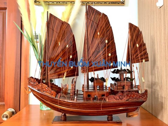 Mô Hình Thuyền Buồm Gỗ Hạ Long Rồng | Gỗ Tràm | Thân 60cm6