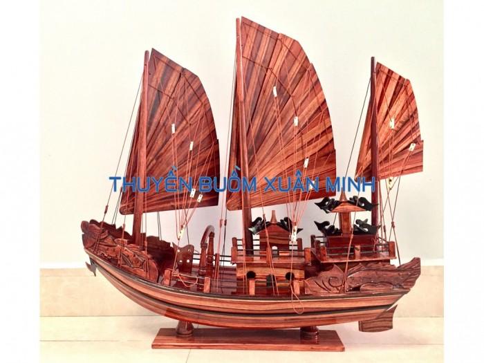 Mô Hình Thuyền Buồm Gỗ Hạ Long Rồng | Gỗ Tràm | Thân 80cm0