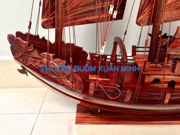 Mô Hình Thuyền Buồm Gỗ Hạ Long Rồng | Gỗ Tràm | Thân 80cm3
