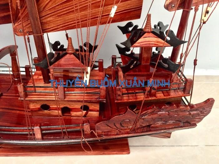 Mô Hình Thuyền Buồm Gỗ Hạ Long Rồng | Gỗ Tràm | Thân 80cm4