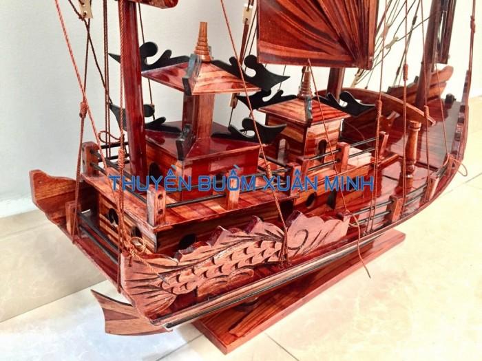 Mô Hình Thuyền Buồm Gỗ Hạ Long Rồng | Gỗ Tràm | Thân 80cm5