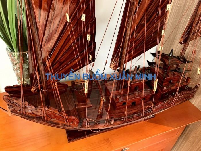 Mô Hình Thuyền Buồm Gỗ Hạ Long Rồng | Gỗ Tràm | Thân 80cm7