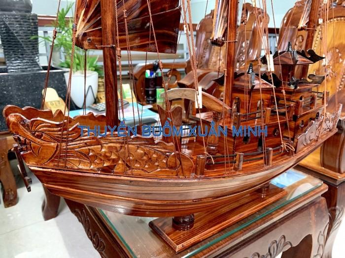 Mô Hình Thuyền Buồm Gỗ Hạ Long Rồng | Gỗ Tràm | Thân 100cm1
