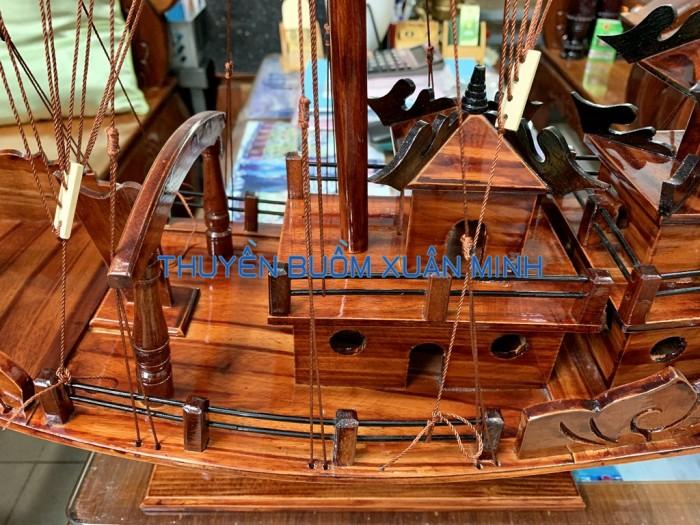 Mô Hình Thuyền Buồm Gỗ Hạ Long Rồng | Gỗ Tràm | Thân 100cm3
