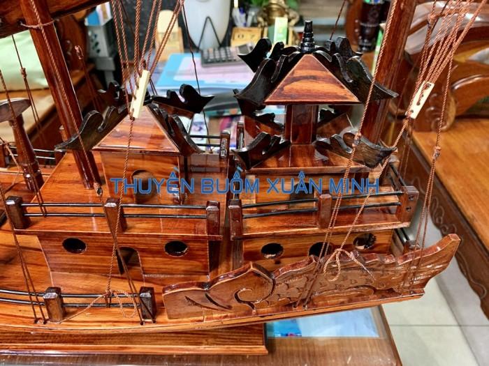 Mô Hình Thuyền Buồm Gỗ Hạ Long Rồng | Gỗ Tràm | Thân 100cm4