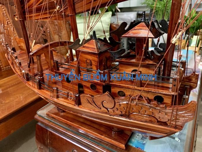Mô Hình Thuyền Buồm Gỗ Hạ Long Rồng | Gỗ Tràm | Thân 100cm5