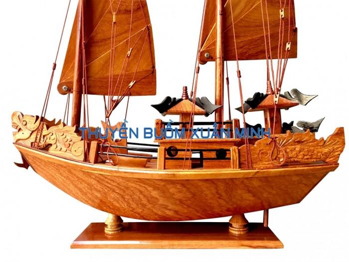 Mô Hình Thuyền Buồm Gỗ Hạ Long Rồng | Gỗ Giáng Hương | Thân 30cm2