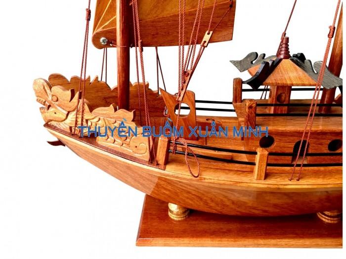 Mô Hình Thuyền Buồm Gỗ Hạ Long Rồng   Gỗ Giáng Hương   Thân 40cm3