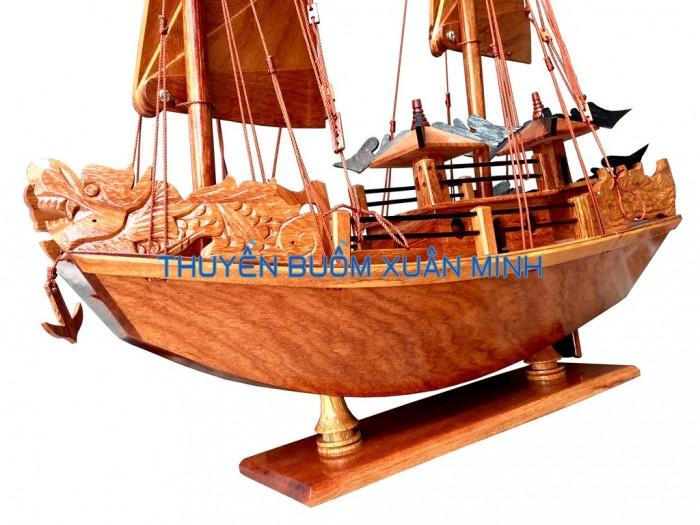Mô Hình Thuyền Buồm Gỗ Hạ Long Rồng   Gỗ Giáng Hương   Thân 40cm5