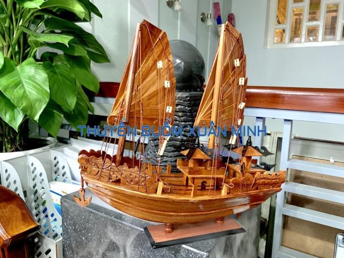 Mô Hình Thuyền Buồm Gỗ Hạ Long Rồng   Gỗ Giáng Hương   Thân 40cm6