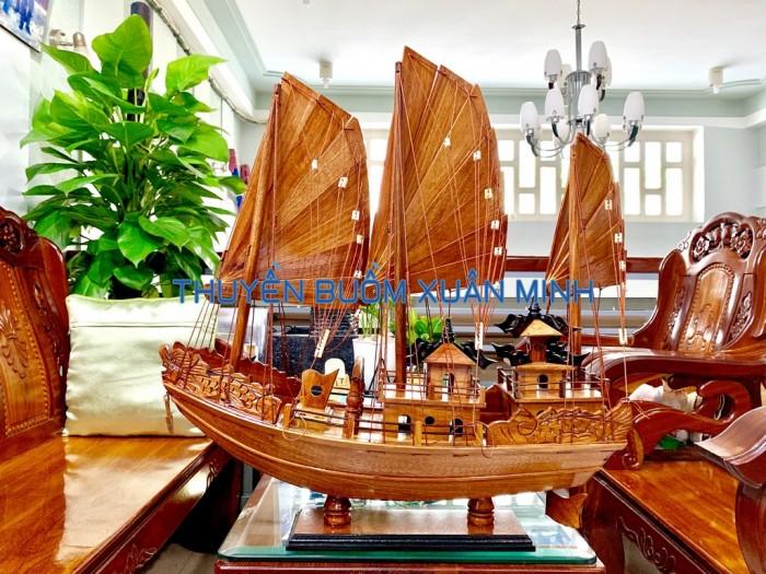 Mô Hình Thuyền Buồm Gỗ Hạ Long Rồng | Gỗ Giáng Hương | Thân 60cm0