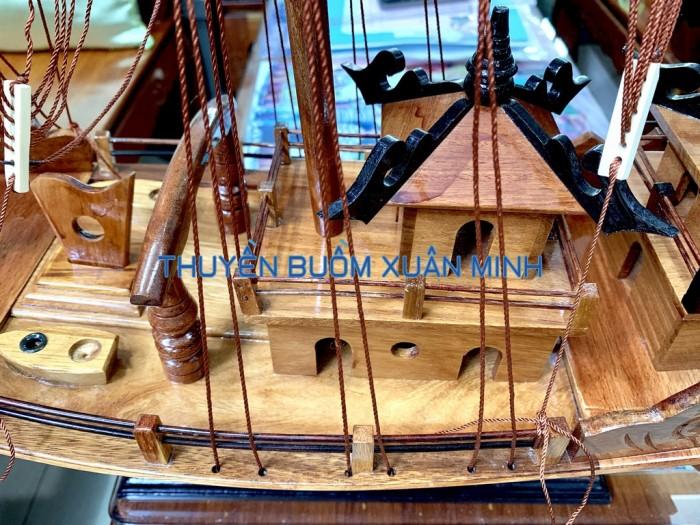 Mô Hình Thuyền Buồm Gỗ Hạ Long Rồng | Gỗ Giáng Hương | Thân 60cm3