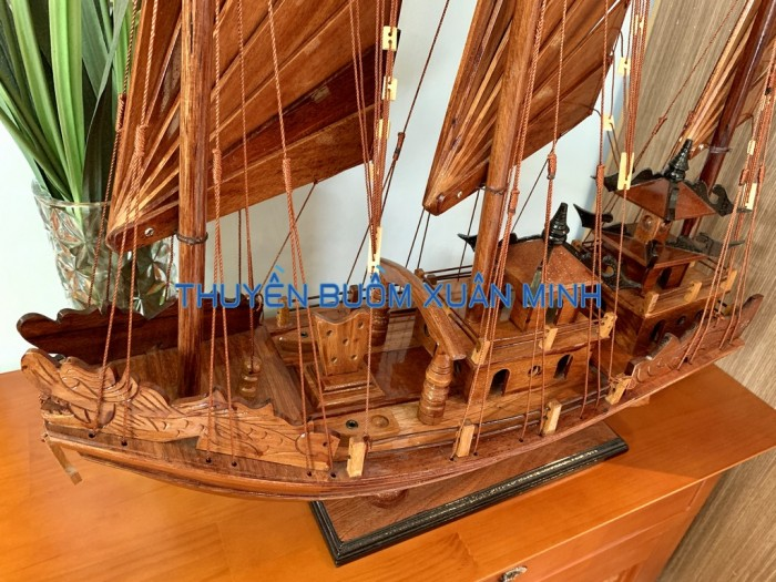 Mô Hình Thuyền Buồm Gỗ Hạ Long Rồng | Gỗ Giáng Hương | Thân 60cm8
