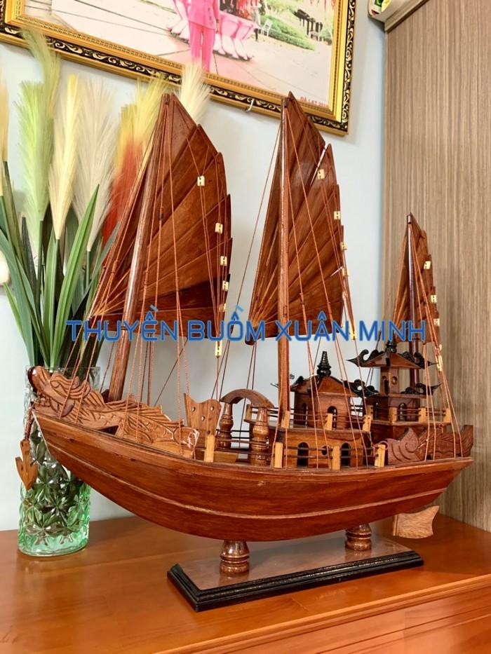 Mô Hình Thuyền Buồm Gỗ Hạ Long Rồng | Gỗ Giáng Hương | Thân 60cm9