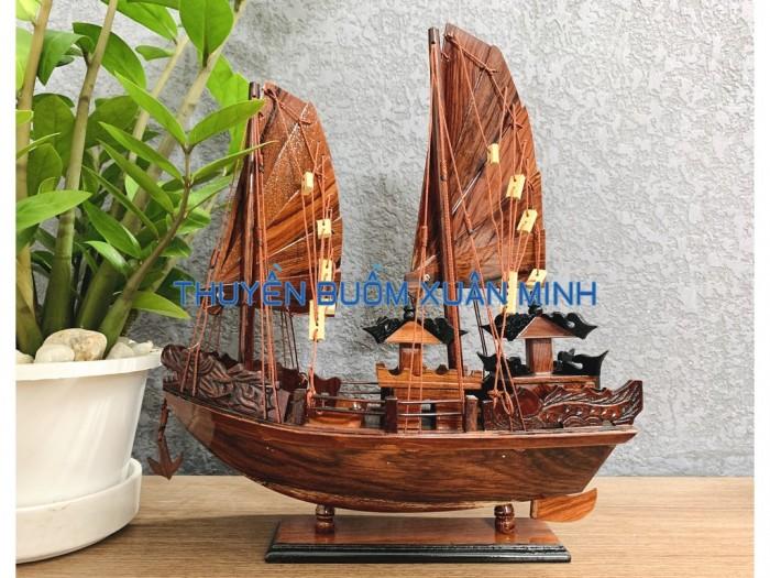 Mô Hình Thuyền Buồm Gỗ Hạ Long Rồng | Gỗ Cẩm Lai | Thân 40cm0