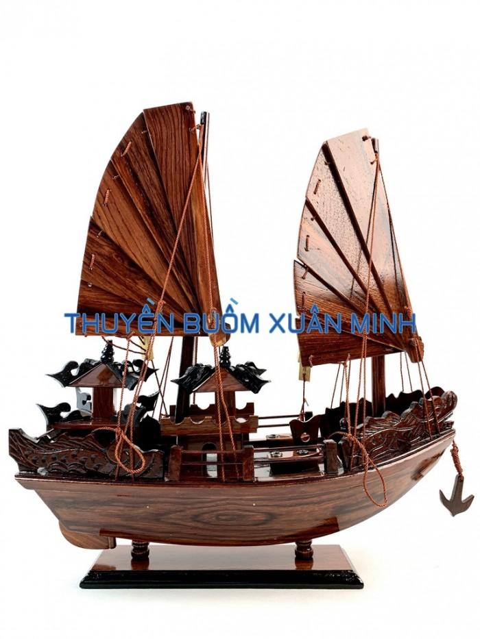 Mô Hình Thuyền Buồm Gỗ Hạ Long Rồng | Gỗ Cẩm Lai | Thân 40cm1