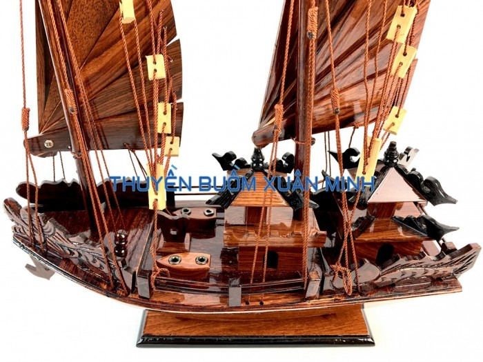 Mô Hình Thuyền Buồm Gỗ Hạ Long Rồng | Gỗ Cẩm Lai | Thân 40cm2
