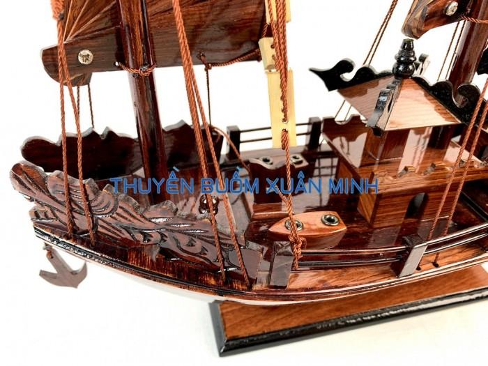 Mô Hình Thuyền Buồm Gỗ Hạ Long Rồng | Gỗ Cẩm Lai | Thân 40cm3