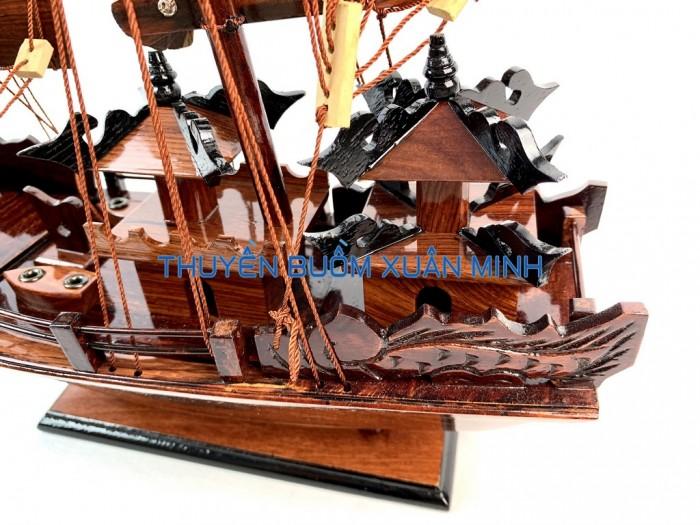 Mô Hình Thuyền Buồm Gỗ Hạ Long Rồng | Gỗ Cẩm Lai | Thân 40cm4