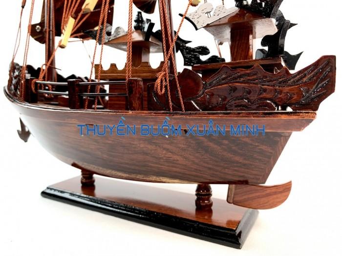 Mô Hình Thuyền Buồm Gỗ Hạ Long Rồng | Gỗ Cẩm Lai | Thân 40cm6