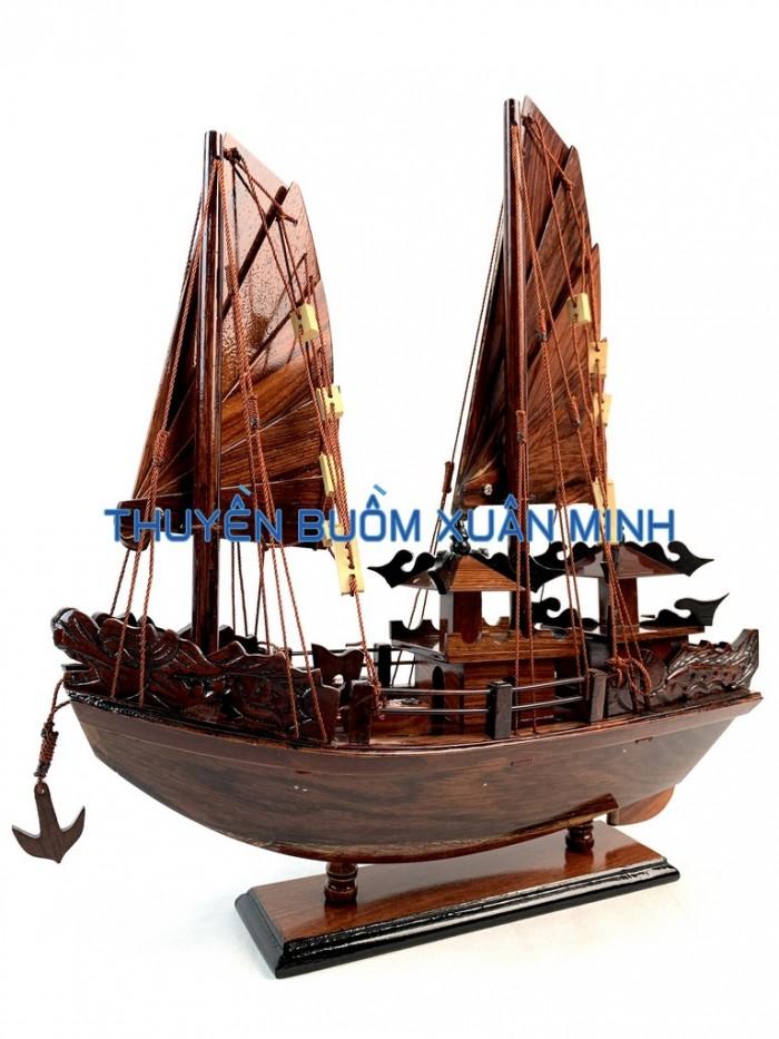 Mô Hình Thuyền Buồm Gỗ Hạ Long Rồng | Gỗ Cẩm Lai | Thân 40cm7