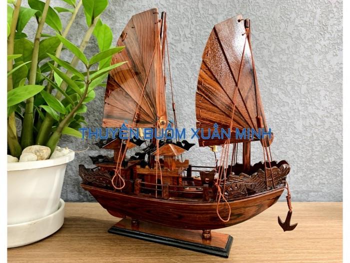 Mô Hình Thuyền Buồm Gỗ Hạ Long Rồng | Gỗ Cẩm Lai | Thân 40cm8