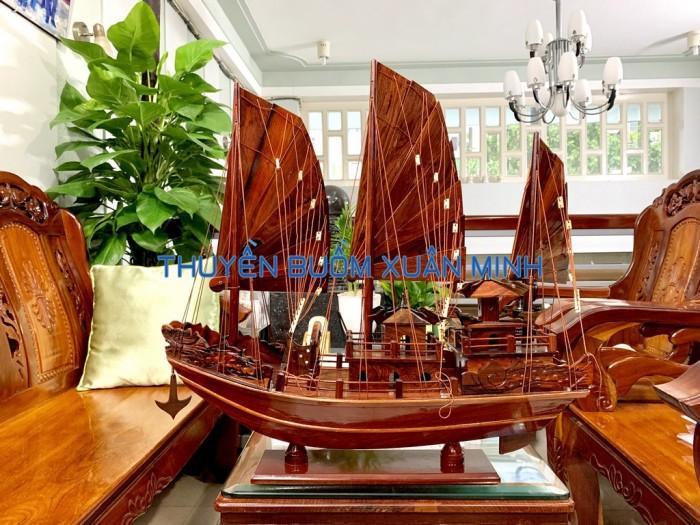 Mô Hình Thuyền Buồm Gỗ Hạ Long Rồng | Gỗ Cẩm Lai | Thân 60cm0