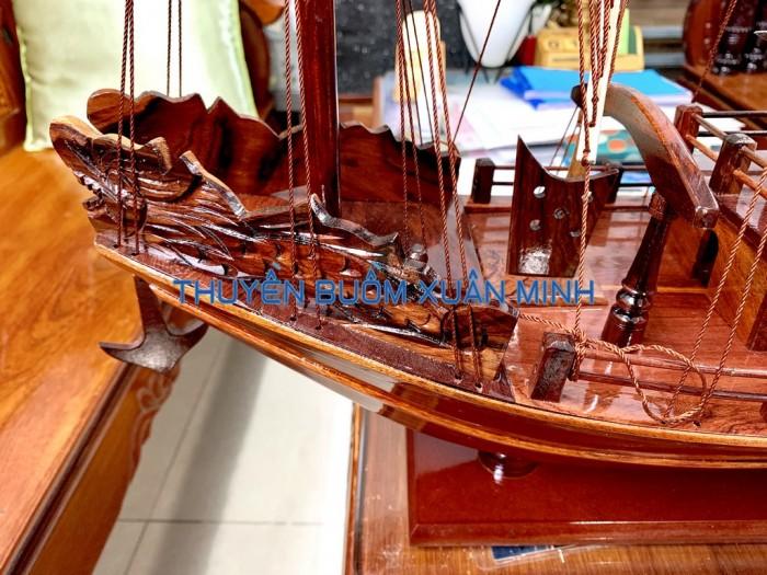 Mô Hình Thuyền Buồm Gỗ Hạ Long Rồng | Gỗ Cẩm Lai | Thân 60cm2