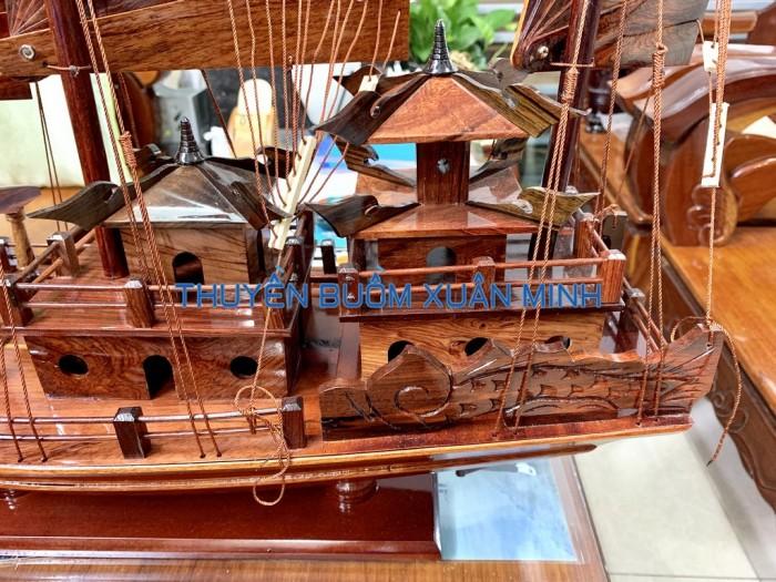 Mô Hình Thuyền Buồm Gỗ Hạ Long Rồng | Gỗ Cẩm Lai | Thân 60cm4