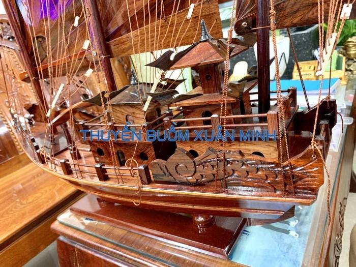 Mô Hình Thuyền Buồm Gỗ Hạ Long Rồng | Gỗ Cẩm Lai | Thân 60cm5