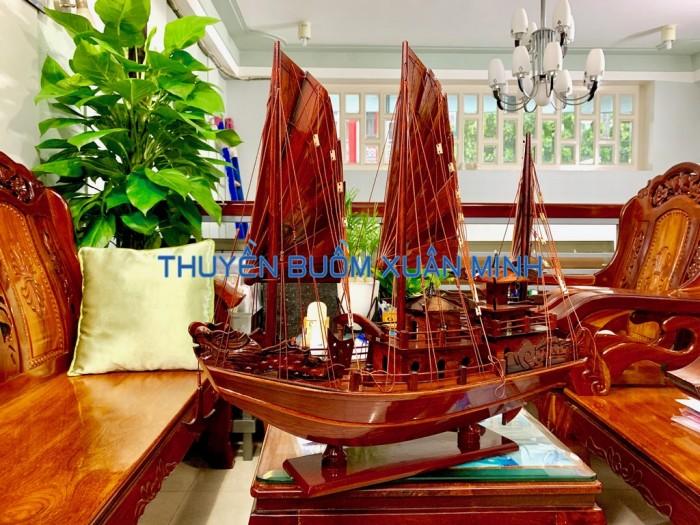 Mô Hình Thuyền Buồm Gỗ Hạ Long Rồng | Gỗ Cẩm Lai | Thân 60cm6