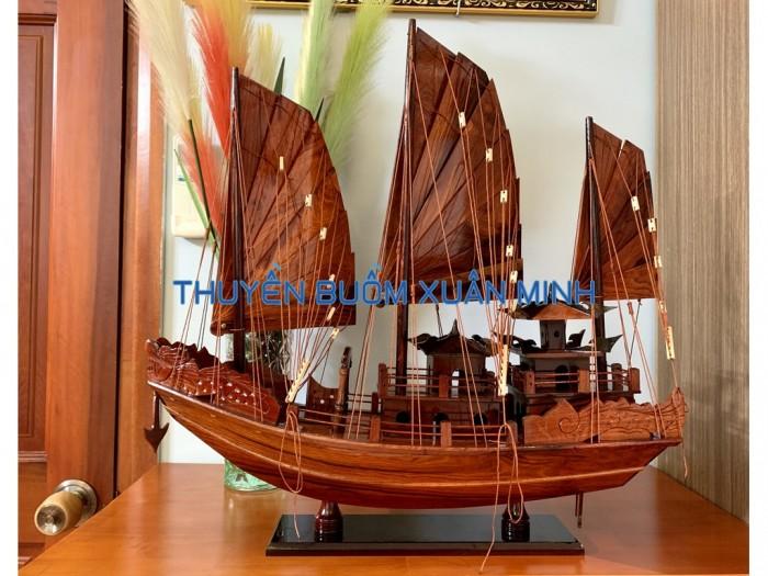 Mô Hình Thuyền Buồm Gỗ Hạ Long Rồng | Gỗ Cẩm Lai | Thân 60cm7