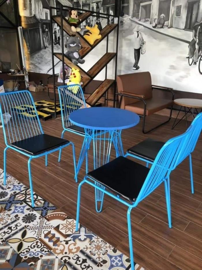 Bộ bàn ghế cafe sắt sơn tĩnh điện giá tại xưỡng1