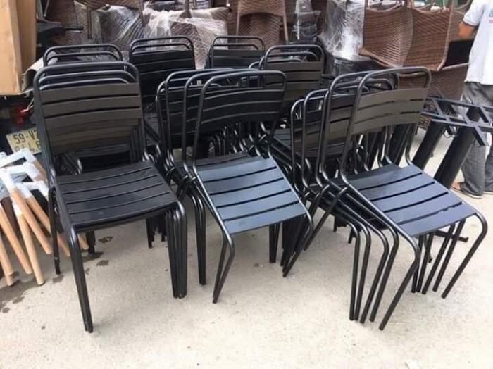 Bộ bàn ghế cafe sắt sơn tĩnh điện giá tại xưỡng2