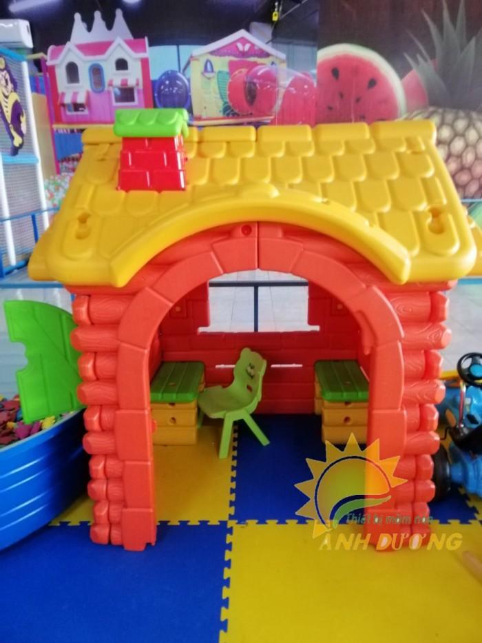 Nhà chơi dạng nhà cổ tích dành cho trẻ nhỏ mẫu giáo, mầm non giá SỐC6