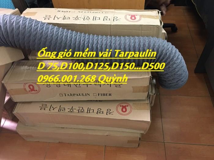 Phân phối ống gió mềm vải chịu nhiệt Tarpaulin, Fiber, Simili phi 100, phi 1250