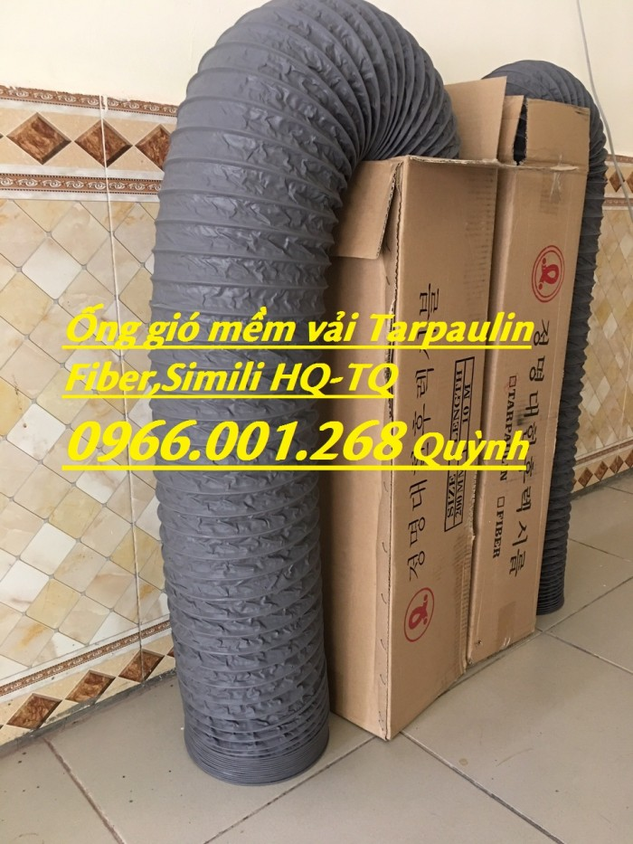 Phân phối ống gió mềm vải chịu nhiệt Tarpaulin, Fiber, Simili phi 100, phi 1253