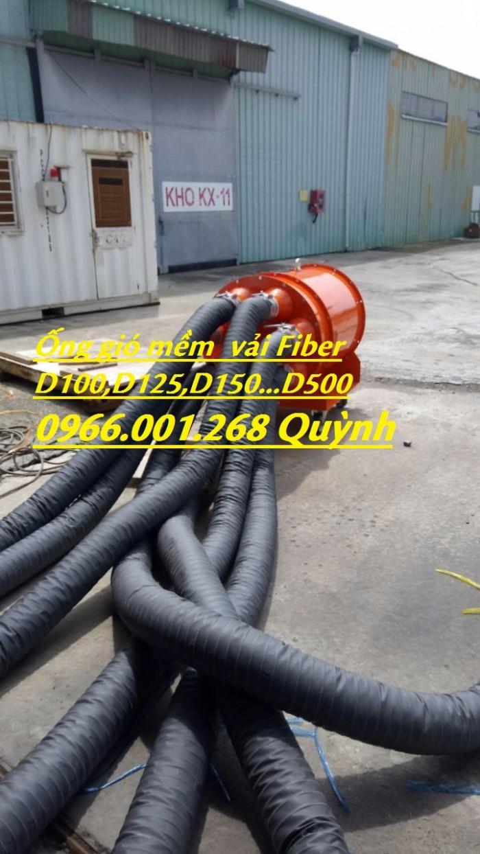 Phân phối ống gió mềm vải chịu nhiệt Tarpaulin, Fiber, Simili phi 100, phi 1258