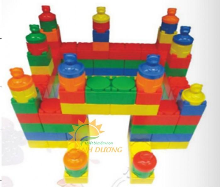 Đồ chơi lắp ghép gồm nhiều chi tiết lớn cho bé mầm non0