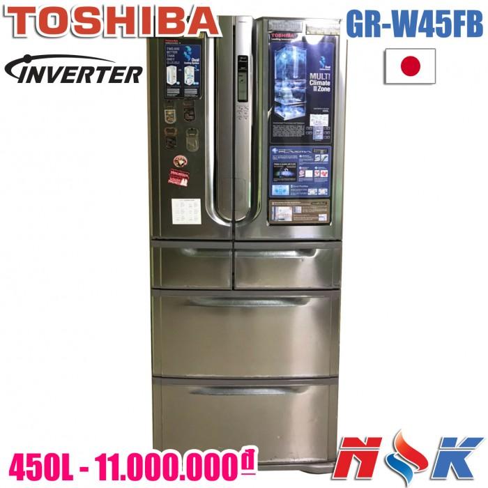 Tủ lạnh Toshiba Inverter GR-W45FB 450 lít0