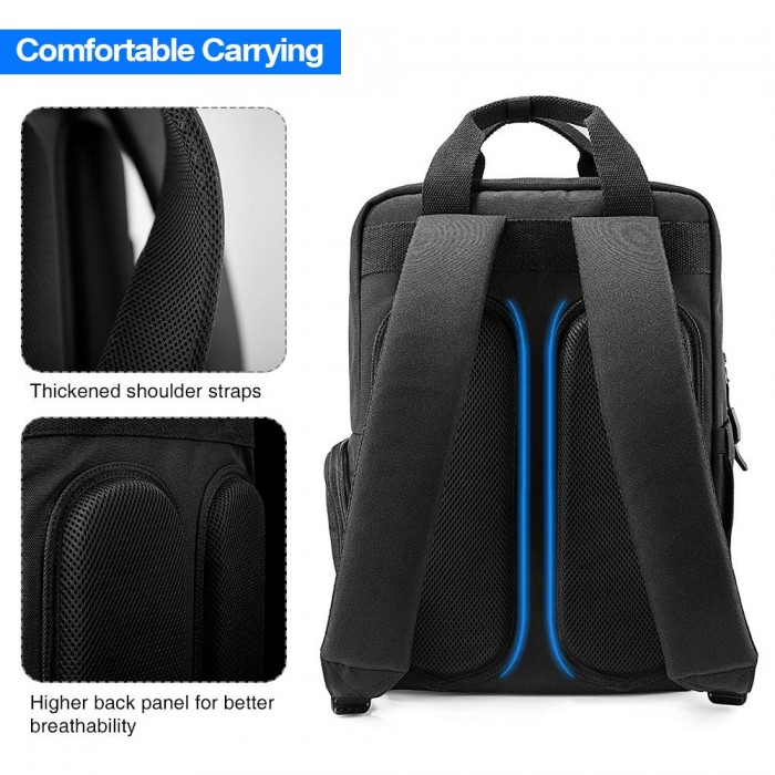 Balo Tomtoc (USA) Daily Backpack For Ultrabook 15/22L Black (A60) - MSN18155