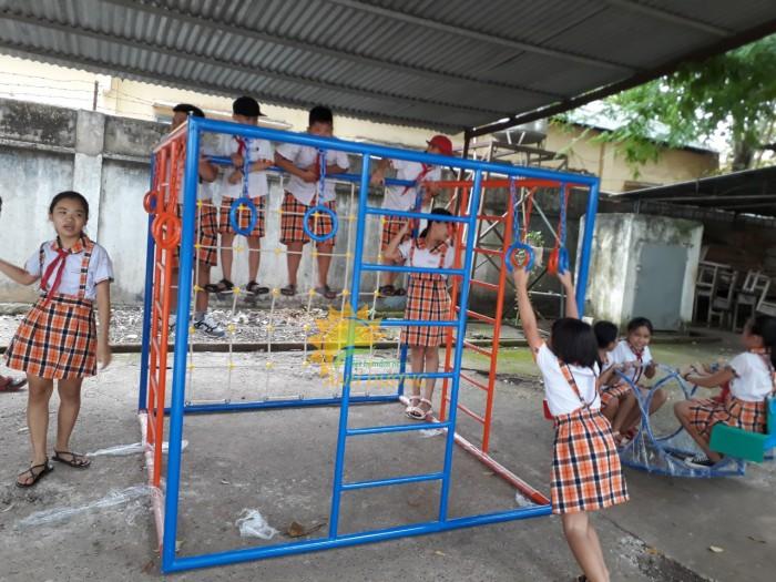 Chuyên sản xuất thang leo thể chất trẻ em cho trường mầm non, công viên, KVC7