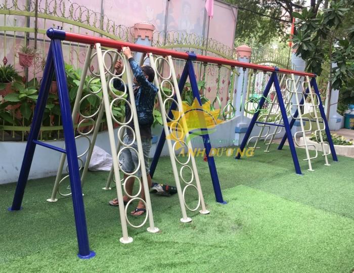 Chuyên sản xuất thang leo thể chất trẻ em cho trường mầm non, công viên, KVC11