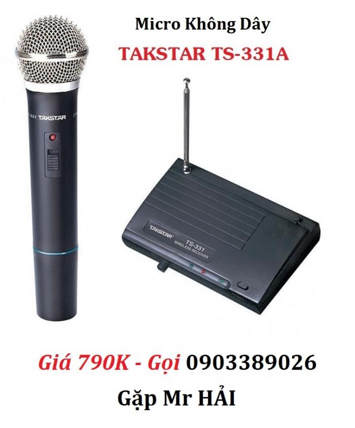 Micro Không dây TAKSTAR TS-331A Thích hợp sử dụng cho việc giảng dạy, phát biểu tại hội nghị, phòng họp, karaoke.