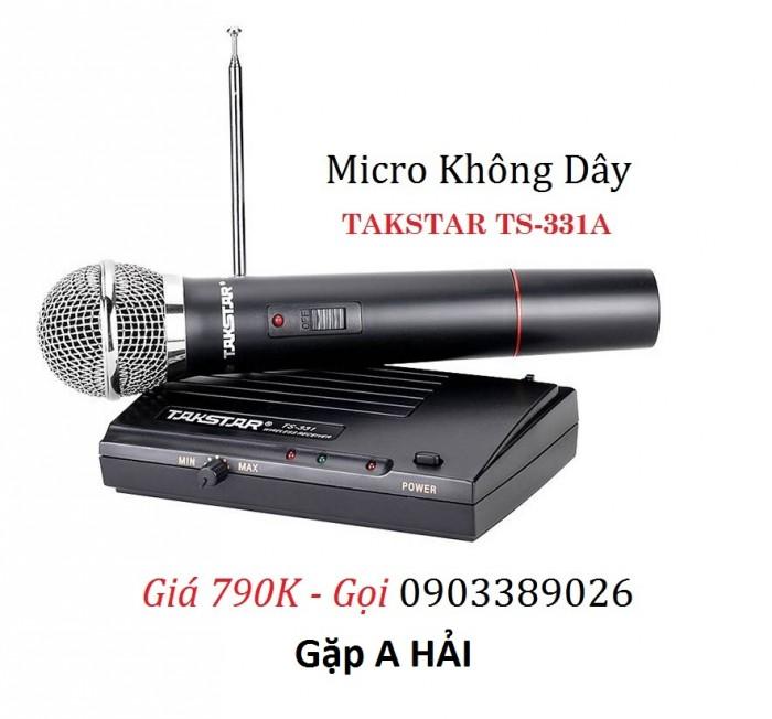 Micro Không dây TAKSTAR TS-331A Kết nối dễ dàng với các hệ thống âm thanh như Ampli, Mixer, loa di động...