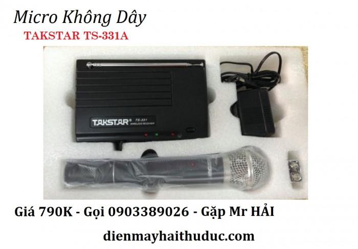 Micro Không dây TAKSTAR TS-331A - Tiêu thụ ít điện năng. Hút âm mạnh.