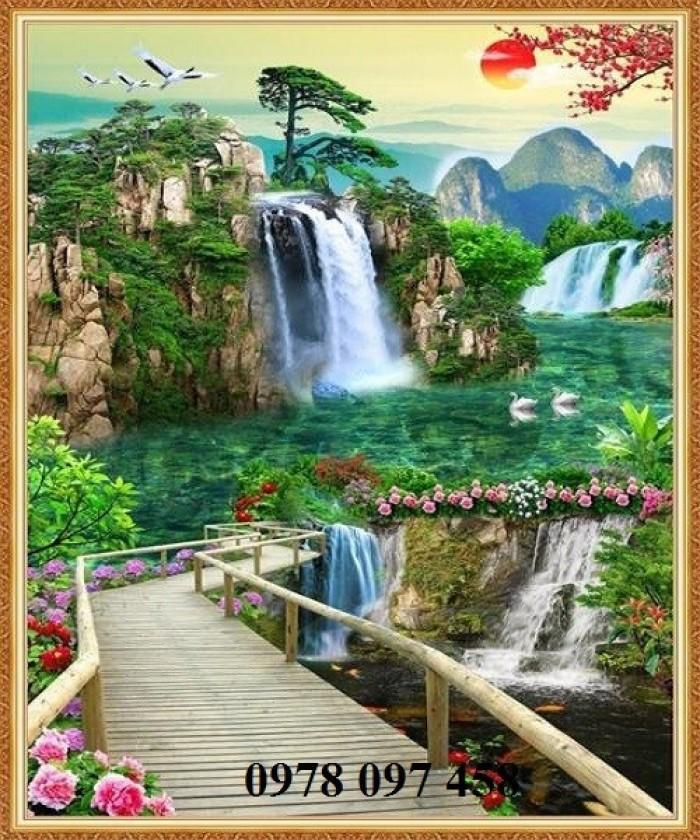 Tranh phong cảnh đẹp - tranh gạch2