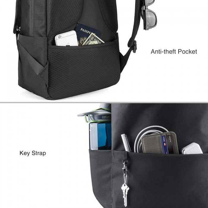 Balo Chống Trộm Tomtoc (USA) Lightweight Camping Laptop 15 Black A72 (E01D01